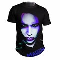 MARILYN MANSON OVERSATURATED PHOTO MEN'S T-SHIRT