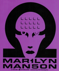 MARILYN MANSON PURPLE HEAD LOGO STICKER