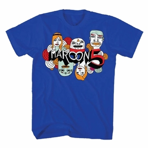 MAROON 5 CARTOON LOGO SLIM FIT MEN'S T-SHIRT
