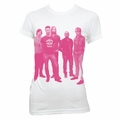 MAROON 5 PINK HALFTONE PHOTO WOMEN'S TISSUE T-SHIRT