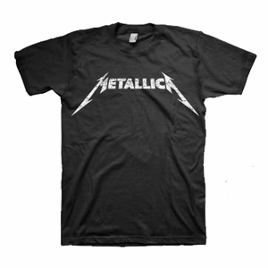 METALLICA BLACK AND WHITE LOGO MEN'S T-SHIRT