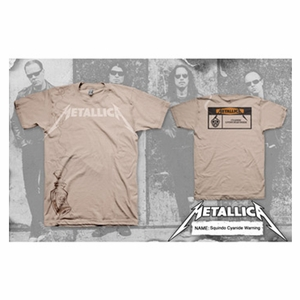 METALLICA CYANIDE WARNING MEN'S T-SHIRT
