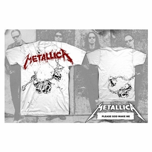 METALLICA GOD WAKE ME MEN'S T-SHIRT