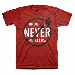 METALLICA NEVER RED MEN'S T-SHIRT