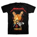 METALLICA TOUR 86 MEN'S T-SHIRT