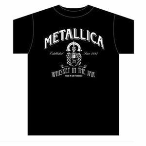 METALLICA WHISKEY LABEL MEN'S T-SHIRT