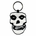 MISFITS FIEND SKULL EMBROIDERED OVAL KEYCHAIN