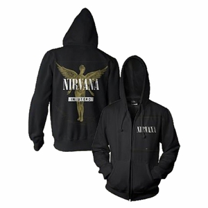 NIRVANA IN UTERO MEN'S ZIP HOODIE