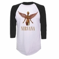 NIRVANA IN UTERO RAGLAN MEN'S T-SHIRT