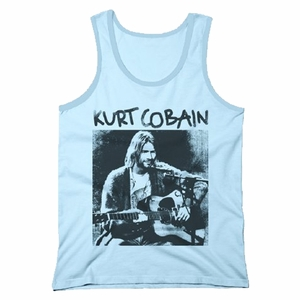 NIRVANA KURT COBAIN ACOUSTIC MEN'S TANK TOP