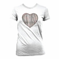 NIRVANA KURT COBAIN DISTRESSED HEART WOMEN'S T-SHIRT