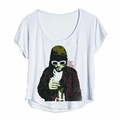 NIRVANA KURT COBAIN KURT SMOKING DOLMAN WOMEN'S T-SHIRT