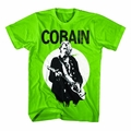 NIRVANA KURT COBAIN STANDING GUITAR PHOTO MEN'S T-SHIRT