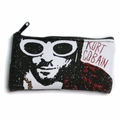 NIRVANA KURT COBAIN ZIPPERED POUCH LOGO