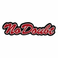 NO DOUBT CURSIVE LOGO EMBROIDERED PATCH