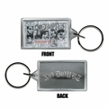 NO DOUBT FACES LUCITE RECTANGLE KEYCHAIN