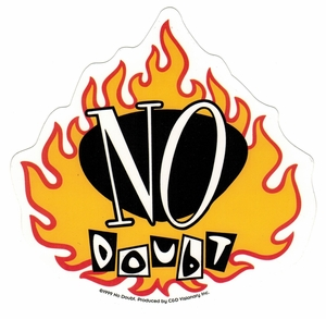 NO DOUBT FLAME LOGO STICKER