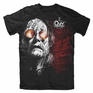 OZZY OSBOURNE BLACK RAIN MEN'S T-SHIRT