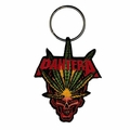 PANTERA LEAF AND SKULL EMBROIDERED RECTANGLE KEYCHAIN