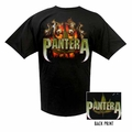 PANTERA SKULL AND LEAF MEN'S T-SHIRT