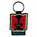 PINK FLOYD DOUBLE IMAGE EMBROIDERED RECTANGLE KEYCHAIN