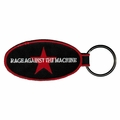 RAGE AGAINST THE MACHINE CLASSIC STAR LOGO EMBROIDERED OVAL KEYCHAIN