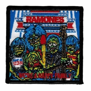 RAMONES WE'RE A HAPPY FAMILY EMBROIDERED PATCH