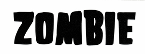 ROB ZOMBIE BAND LOGO RUB-ON STICKER BLACK