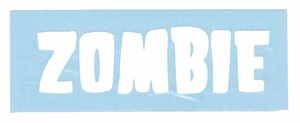 ROB ZOMBIE BAND LOGO RUB-ON STICKER WHITE