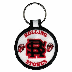 ROLLING STONES ENTWINED EMBROIDERED ROUND KEYCHAIN