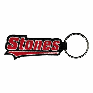 ROLLING STONES TATTOO YOU LOGO EMBROIDERED RECTANGLE KEYCHAIN