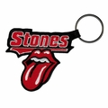 ROLLING STONES TATTOO YOU TONGUE LOGO EMBROIDERED RECTANGLE KEYCHAIN