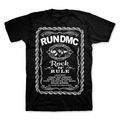 RUN DMC ROCK AND RULE WHISKEY LABEL MEN'S T-SHIRT