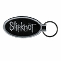 SLIPKNOT BAND LOGO EMBROIDERED OVAL KEYCHAIN