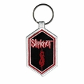 SLIPKNOT TRIBAL S AND BAND LOGO EMBROIDERED HEXAGON KEYCHAIN