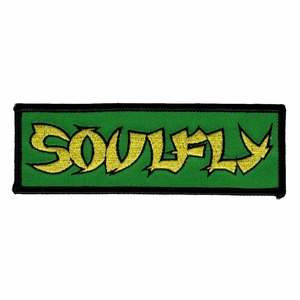 SOULFLY GREEN EMBROIDERED PATCH
