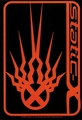 STATIC-X BLACK AND ORANGE STICKER