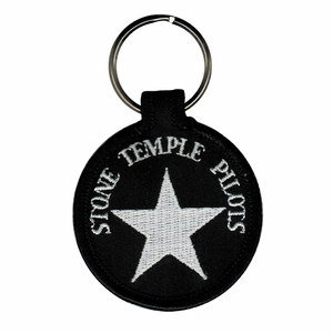 STONE TEMPLE PILOTS LOGO EMBROIDERED ROUND KEYCHAIN