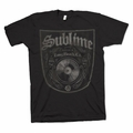 SUBLIME BOTTLED IN LBC BLACK SLIM FIT MEN'S T-SHIRT
