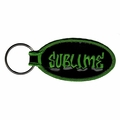 SUBLIME GRAFFITI BAND NAME EMBROIDERED OVAL KEYCHAIN