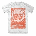 SUBLIME ORANGE SUN GLOW SLIM FIT MEN'S T-SHIRT