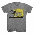 SUBLIME PALM TREES WITH SUN SLIM FIT MEN'S T-SHIRT