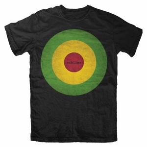 SUBLIME RASTA BULLSEYE MEN'S T-SHIRT