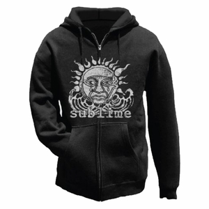 SUBLIME SUN BLACK MEN'S ZIP HOODIE