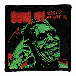 SUM 41 DOES THIS LOOK INFECTED EMBROIDERED PATCH