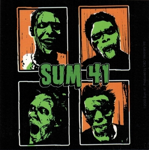 SUM 41 GREEN-FACED BAND MEMBERS STICKER
