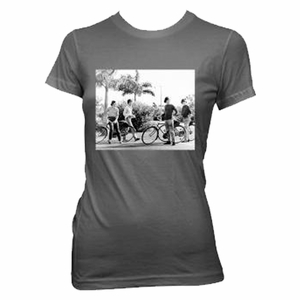 THE BEATLES BICYCLE GROUP SHOT WOMEN'S T-SHIRT