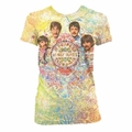 THE BEATLES GREN PAISLEY DYE SUBLIMATION WOMEN'S T-SHIRT