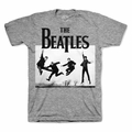 THE BEATLES JUMP PHOTO HEATHER MEN'S T-SHIRT