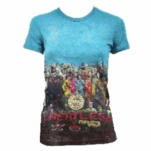 THE BEATLES SGT PEPPERS ALBUM ALLOVER WOMEN'S T-SHIRT